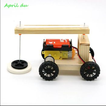 April Du DIY Electric Sweeping Robot Model Physical Science Experiment Invention Children Creative Educational Toys,1set theo jansen mini strandbeest model wind power beast diy educational toys handmade science experiment toys child birthday gift