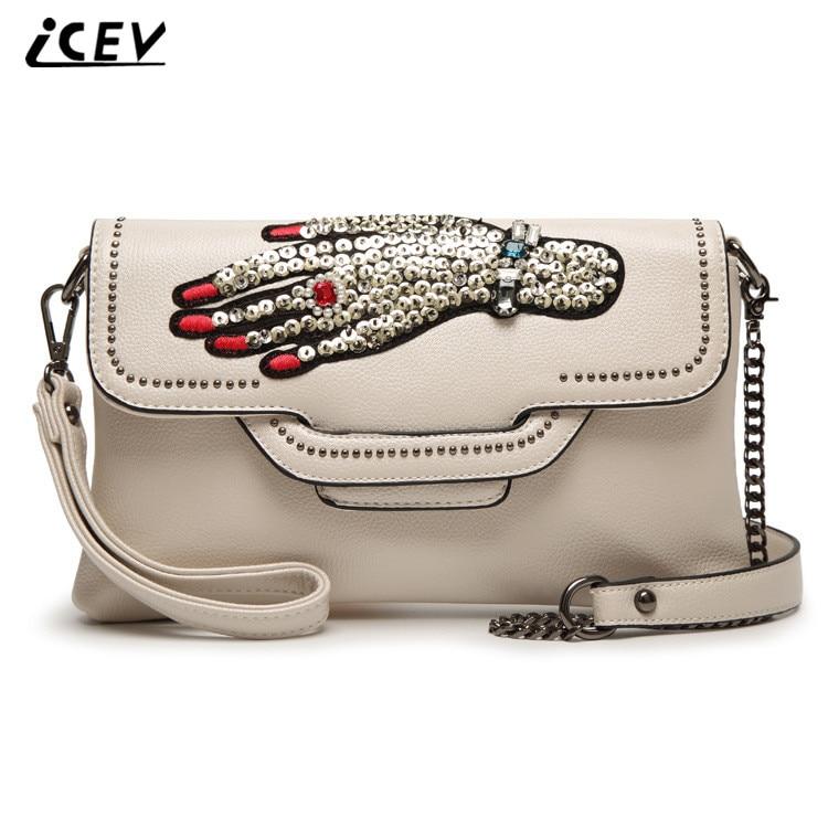 ICEV New Arrival Diamonds Design font b Handbag b font High Quality Chain font b Women