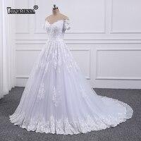 Vestido De Noiva Plus Size Ball Gown Wedding dress 2018 Lace Appliques Bride Dress Off the Shoulder Wedding dresses trouwjurk
