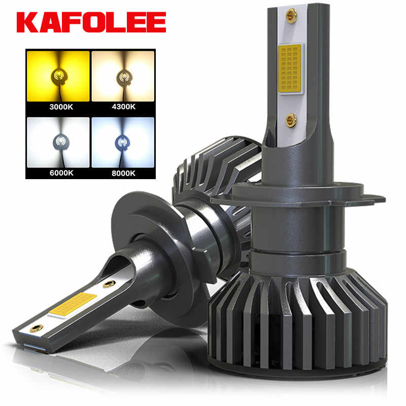 KAFOLEE 4 Colors To Choose From Car Headlight Bulb H4 LED H7 H1 H3 H11 H16 HIR2 9005 HB3 9006 HB4 H8 4300K 6500K 8000K 16000LM