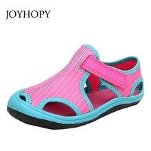 c5c30199 2018 verano nuevo estilo zapatos de los niños niñas niños moda cerrado Toe  sandalias lona playa transpirable goma pisos Sho