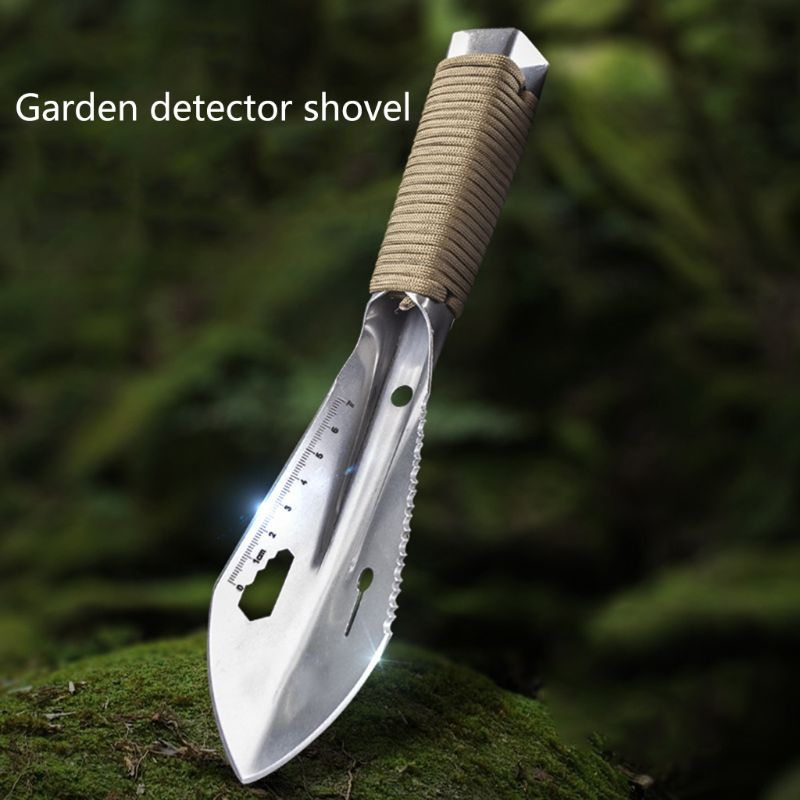 Metal Detector Garden Digging Tool Digger Garden Shovel W Sheath Stainless Steel