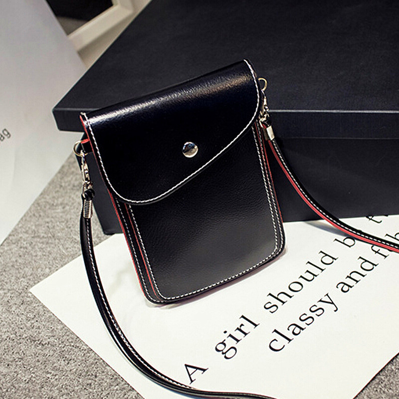New Fashion Women's Mini Multi-color side edge of color phone package lovely purse retro shoulder diagonal handbags messenger 1