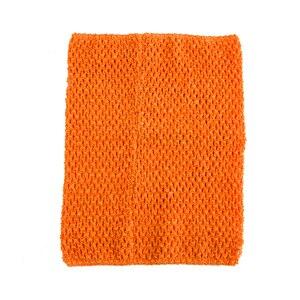 Вязаный топ-труба 9x10 дюймов, топ-пачка для маленьких девочек, вязаная юбка-американка топ-пачка, вязаная крючком повязка на голову, смешанные цвета, 10 шт. в партии - Цвет: Orange 10pcs