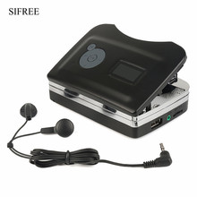 High Quality USB Portable Tape to CD Player Cassette To MP3 Audio Music CD Digital Player Converter Capture Recorder +Headphone
