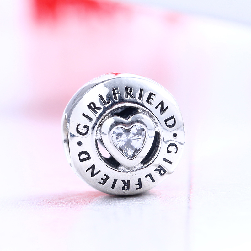 Authentic New 100% 925 Sterling Silver Fit Original Pandora Bracelet Girlfriend Charm DIY Charms Beads for Jewelry Making Gift