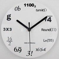 현대 홈 장식 아크릴 벽시계 수학 방정식 벽 마운트 시계 석영 바늘 Horloge 시계