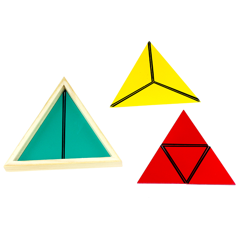 Høy kvalitet Montessori Math Toy Constructive Triangles Colorful Equilateral Triangle Montessori Matherial Leker for barnegave