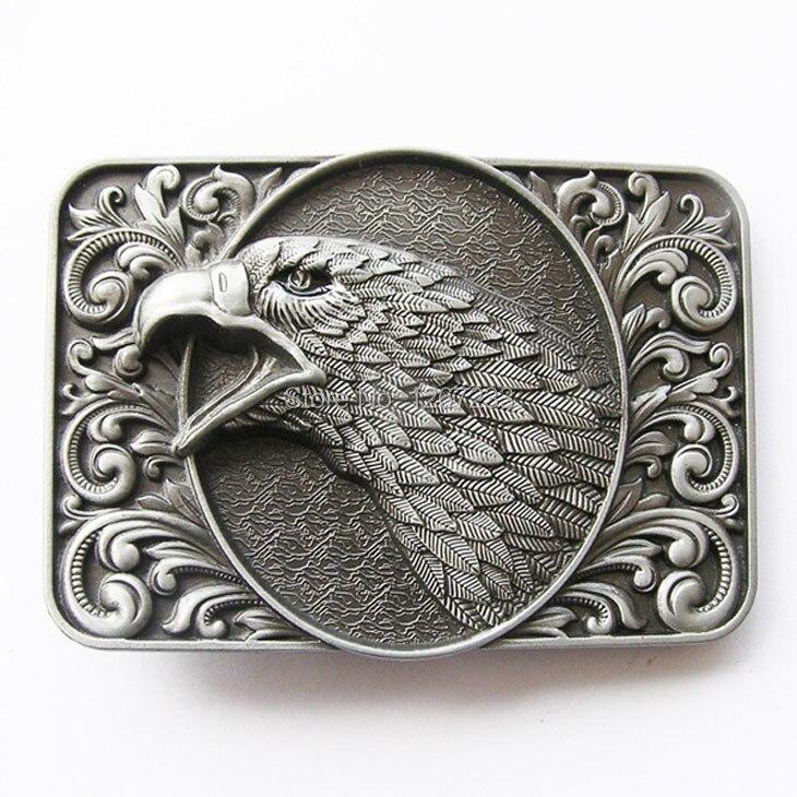 Belt-Buckle Eagle-Head Western Vintage New Gurtelschnalle Bald Ornate Boucle-De-Ceinture