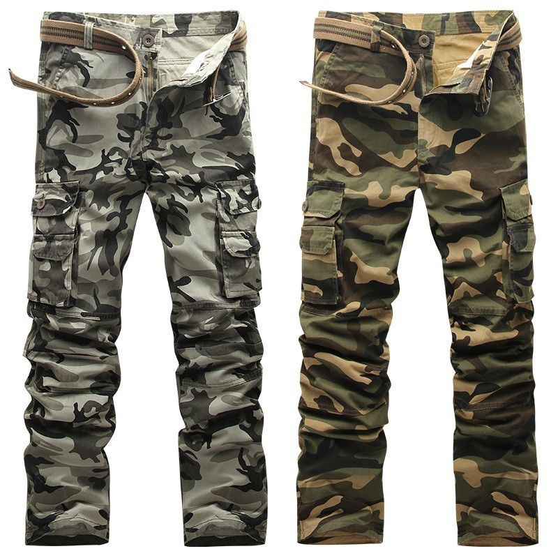 FAVOCENT Men Casual Camouflage Pant Slim Overall Trousers