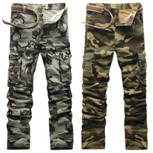 2017 frühling und herbst Großhandel Preis Marke Men Casual Camouflage Hose trend Gerade Schlank Insgesamt Mode Hose Größe 28-38