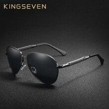 KINGSEVEN Hohe Qualität Pilot Sonnenbrille Männer Polarisierte UV400 sonnenbrille Goggle Oculos De Sol Zubehör Fahren Brillen