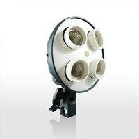 4 In 1 E27 Bulb Holder 4 Sockets Base Socket Photography Light Holder Video Light Lamp