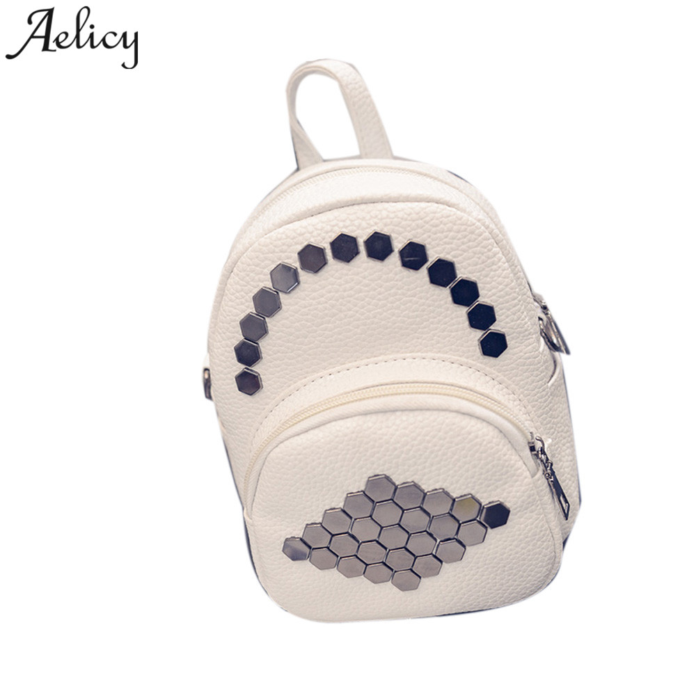 Aelicy Women Backpack Leather Hexagonal Rivets girls school bag Ladies Travel Bags for women 2019 mochila feminina dropship hotAelicy Women Backpack Leather Hexagonal Rivets girls school bag Ladies Travel Bags for women 2019 mochila feminina dropship hot