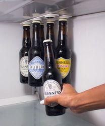 6 Magntic Bottle Hanger Holder Beer Loft  Magnetic Beer Bottle & Jar Hanger For Fridge, Organize w/ Magnet Holder Strips