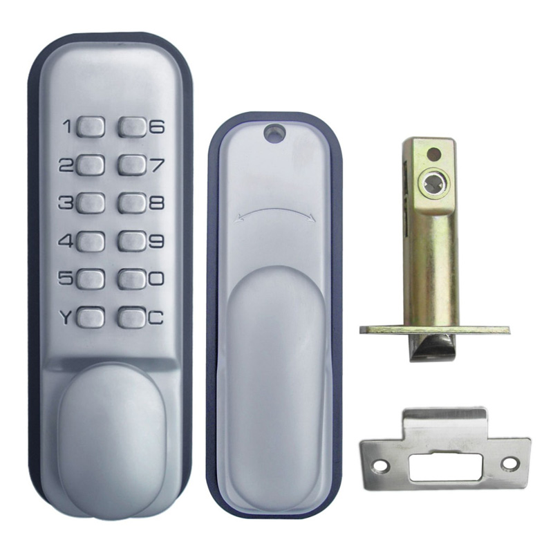 Mechanical Code Lock Digital Machinery Keypad Password Entry Door lock Single Latch Zinc Alloy Silver L&S L17003  цена и фото