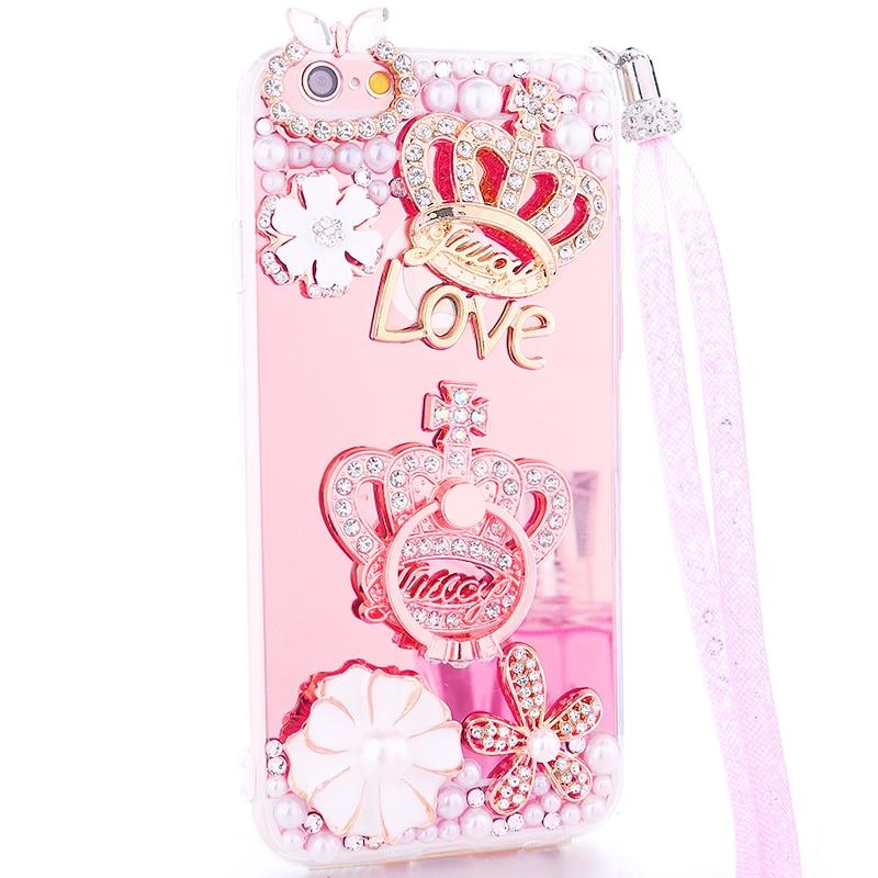 Для iPhone 6 6 S 4.7 дюймовый корпус блеск зеркало телефона Чехол для iPhone 6 6 S 4.7 дюйма роскошные Алмаз чехол для Обувь для девочек Для женщин крышка