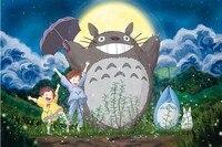 Happy Totoro Cartoon Puzzles Wooden Puzzles 1000 Pieces Adult Puzzles Wooden Jigsaw Puzzle 1000 Pieces Toys