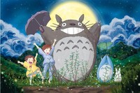 Happy Totoro Cartoon Puzzles Wooden Puzzles 1000 Pieces Adult Puzzles Wooden Jigsaw Puzzle 1000 Pieces Toys
