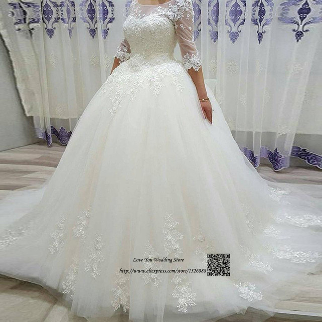 Designer Ball Gown Wedding Dresses Turkey Vestidos de Noiva Vintage Wedding  Gowns Lace Bride Dress 2017 9a1067832119