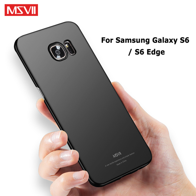 more photos 32d2f 0b071 US $3.98 20% OFF|MSVII Cases For Samsung Galaxy S6 Edge Case Slim Frosted  Coque For Samsung Galaxy S6 Case PC Cover For Samsung S6 S 6 Edge Case-in  ...