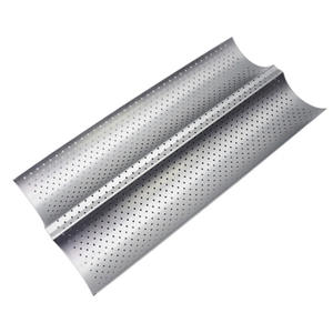 Bread-Baking-Tray French Bake-Mold Baguette Carbon-Steel Wave 2 for Pan Groove Hot-Food-Grade