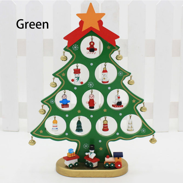 S M L Christmas Decorations Mini Artificial Wooden Christmas Tree