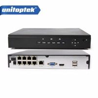H 264 CCTV Onvif NVR POE 8CH 960P 8CH 1080P POE 1 HDD Security 8ch NVR