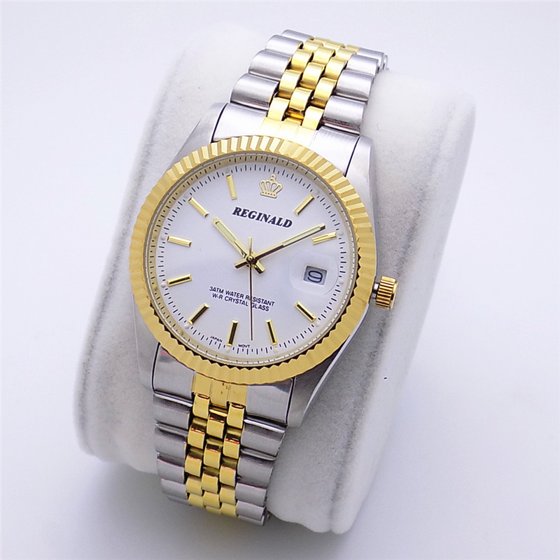 2018 Fashion Reginald Brand Luxury Watch Quartz Man Gold Article High Grade Gift Contracted Scale Between Classic Dress Calendar|Lover's Watches| |  - title=