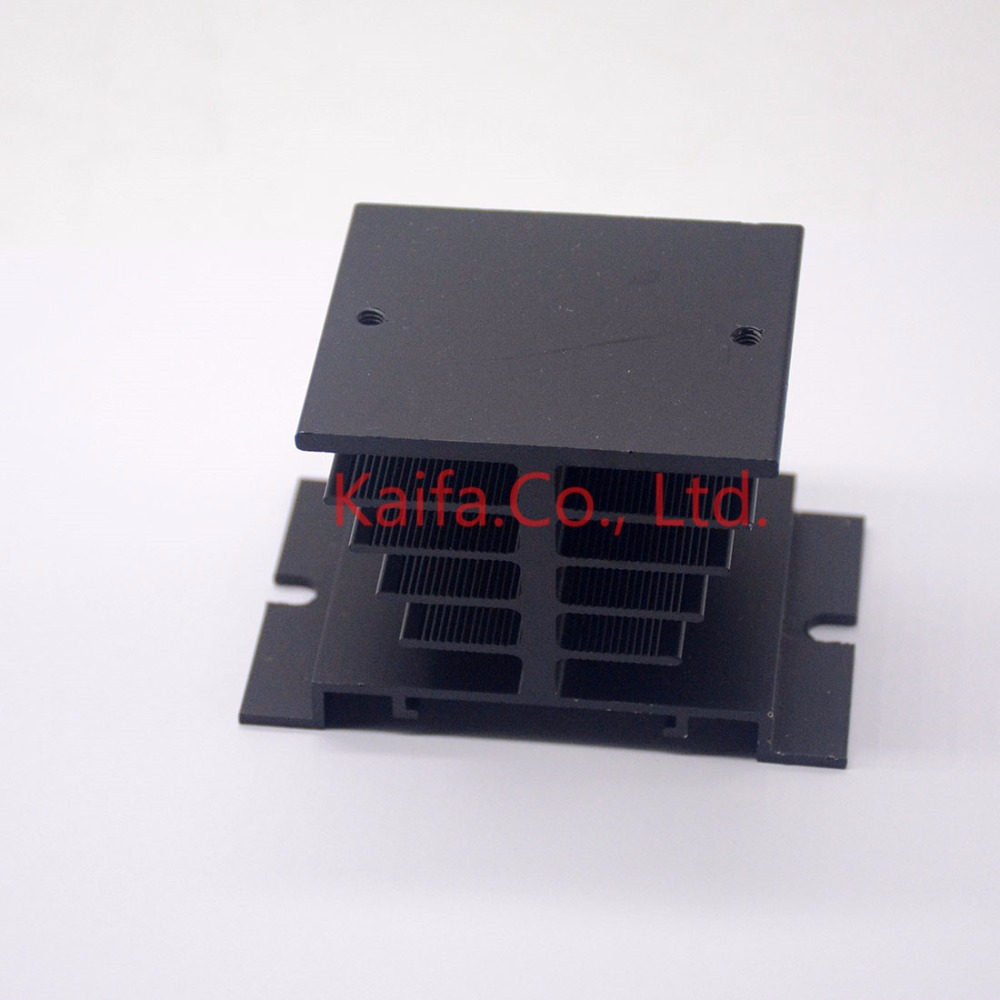 1pc Black Single Phase Solid State Relay SSR Aluminum Heat Sink Dissipation Radiator Newest,,Suitable for 10A-40A relay normally open single phase solid state relay ssr mgr 1 d48120 120a control dc ac 24 480v
