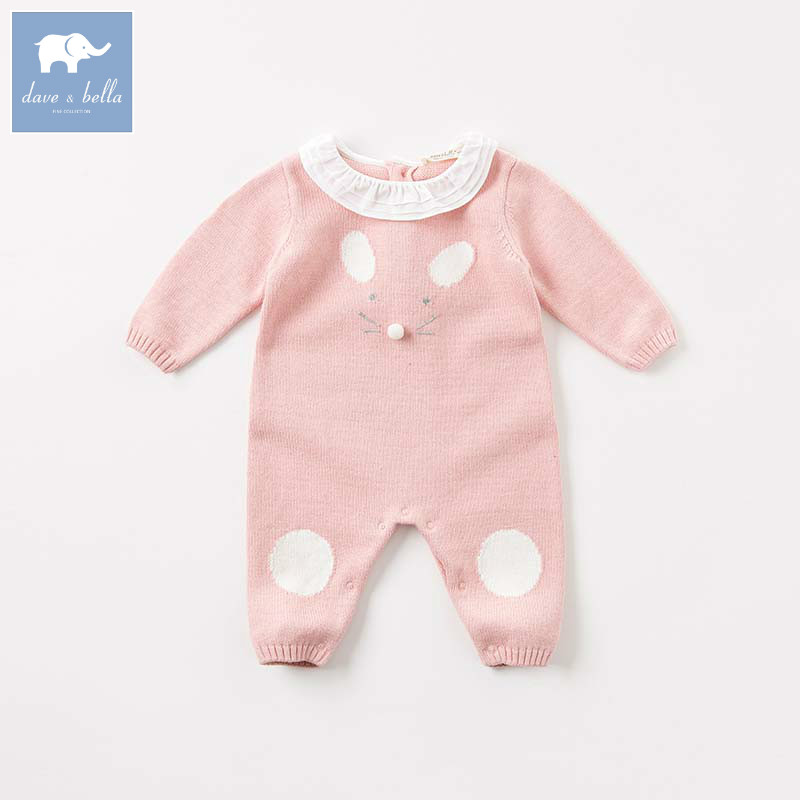 DBM8180 dave bella autumn newborn baby knitted romper infant toddler girls clothing kids jumpsuit DBM8180 dave bella autumn newborn baby knitted romper infant toddler girls clothing kids jumpsuit