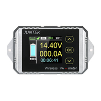 JUNTEK Wireless Digital voltmeter ammeter DC 0.01 100V 0.1 300A Current Voltage Meter Power Meter Capacity Coulomb Counter