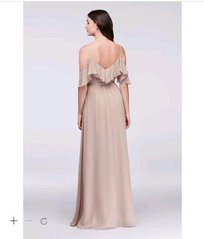 Sexy Cheap Bridesmaid Dress 2017 Cold Shoulder Crinkle Chiffon Wedding  Party Dresses F19508 Bridesmaid gowns-in Bridesmaid Dresses from Weddings    Events on ... e9cc58ce6385