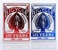 1 Cubierta de Color Rojo O Azul 125 Año Bicicleta Aniversario 125o Edición Especial Original de la Bicicleta naipe Poker Truco de Magia Prop