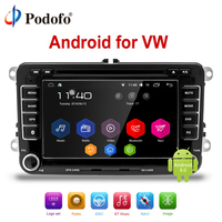Podofo 7 2 din Android Car DVD GPS radio stereo Multimedia Player for Volkswagen VW golf 6 passat b6 B7 Touran Polo Tiguan Seat