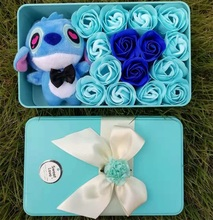 Flower box Lilo Stitch and Soap Roses