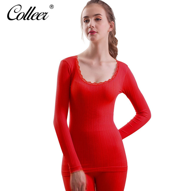 a6efe8a8e06 COLLEER Women winter warm thermal underwear women long johns long sleeve  thermal clothing Lace Underwears Shapewear Sets women