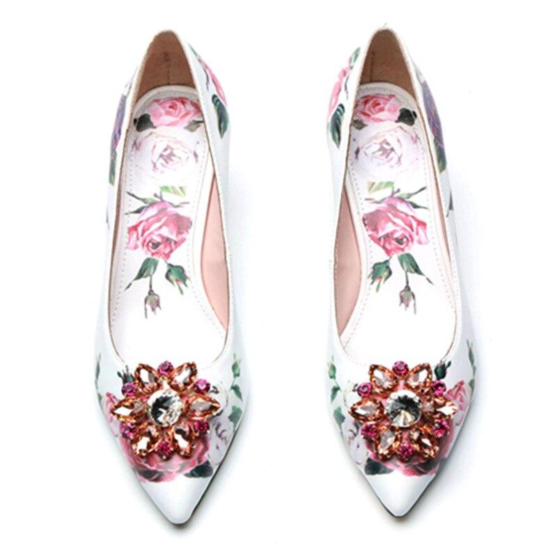 Mariage Chaude Femmes Bout Talon Dames Couleur Show Pointu Chaussures Pompe De Femme Mince Zapatos Mixte As Fleur Parti Mode Mujer wBTtFBqz