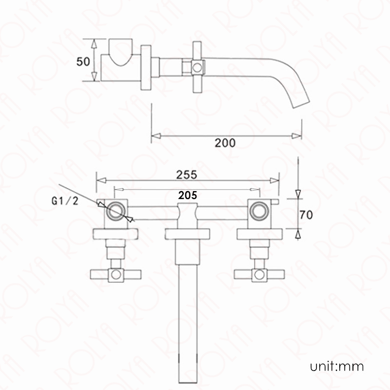Double-Cross-Handles-Golden-Bathroom-Faucet-In-Wall-Mounted-Basin-Mixer-Tap-Set-2018-Top-Fashion 2_1