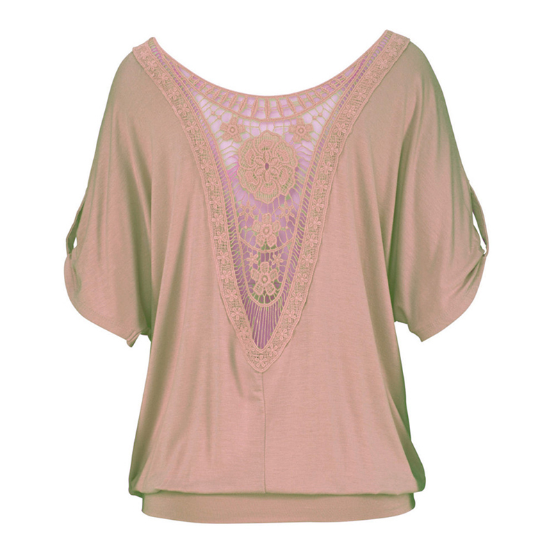 Harajuku Casual Round-neck Vintage Female Lace Top