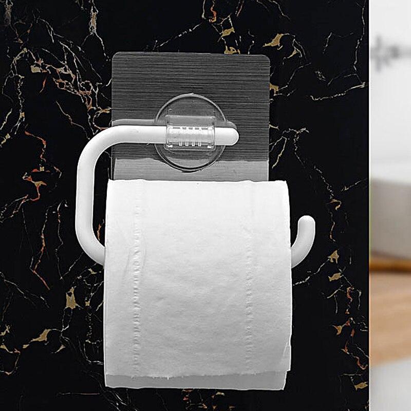 Home Storage Multifunction Durable Roll Paper Storage Rack Toilet Paper Holder Towel Storage Shelf Bathroom Kitchen Organizer