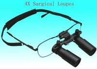 4X Medical Binocular Loupes 4 Times Kepler Dental Surgical Loupe Jewelry Machine Identification Glasses Magnifier With Box