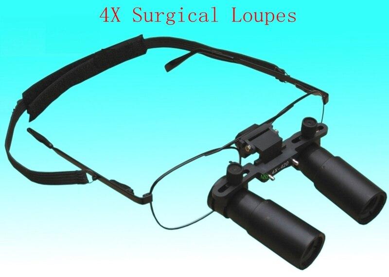 4X Medical Occhialini Binoculari 4 Volte Kepler Dentale Chirurgico Loupe Gioielli Identificazione Della Macchina Occhiali Lente di Ingrandimento Con La Scatola
