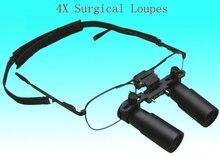 4X Quirúrgica Dental Medical Lupas Binoculares 4 Veces Máquina de Huellas Dactilares de Identificación de Jewelly Gafas Lupa de La Lupa Con la Caja