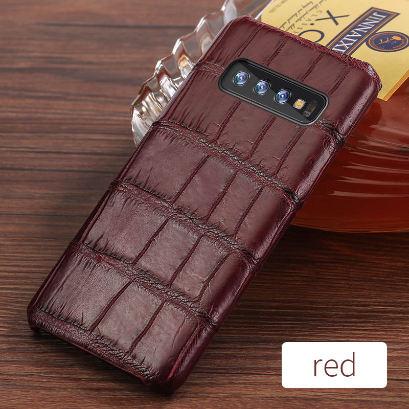 Image 5 - Luxury Natural Crocodile Leather case For Samsung Galaxy s10 S7 S9 S8 plus cover For Note 10 plus 8 9 a50 a70 A10 A30 a7 a8 2018-in Fitted Cases from Cellphones & Telecommunications