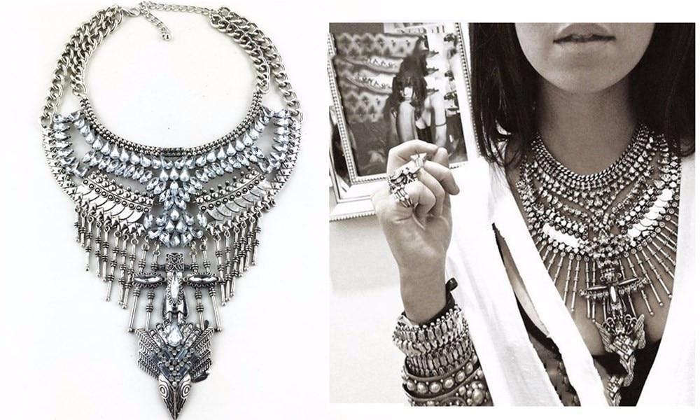Ztech 18 Women Necklaces & Pendants Vintage Crystal Maxi Choker Statement Collier Femme Boho Big Fashion Jewellery Wholesale 4