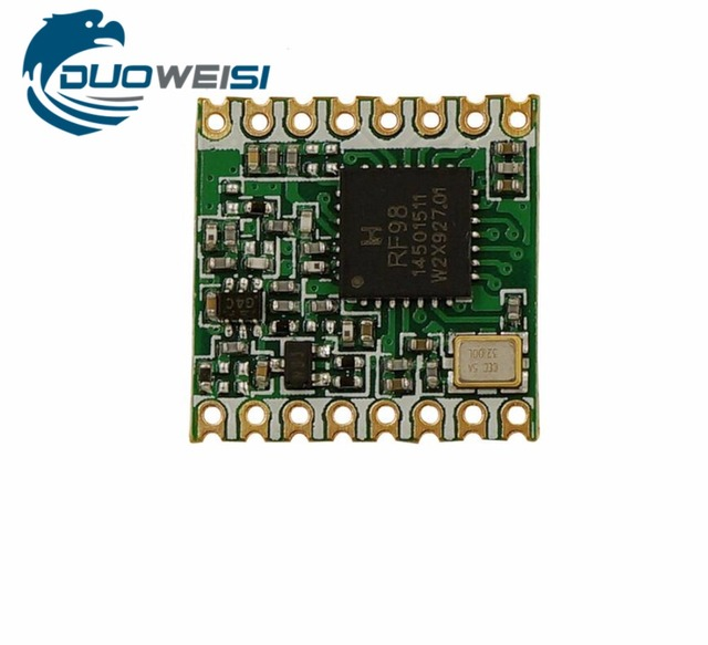 US $3 88 |433MHz 470MHz RFM98 RFM98W | Wireless transceiver module | LoRa  spread spectrum communication | 433M |470M| SX1278 | 16 * 16mm-in