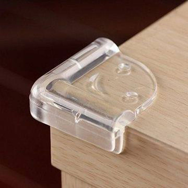 ... Baby Safety Silicone Protector Table Edge Protection L Type Smiley  Transparent Cover Anticollision Furniture Edge ...