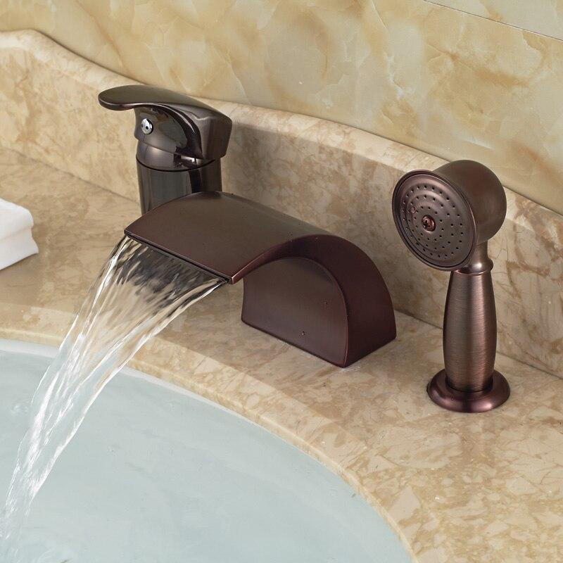 rubinetteria vasca da bagno olio di bronzo lucidato-acquista a ... - Lusso Estratto Lavandino Del Bagno