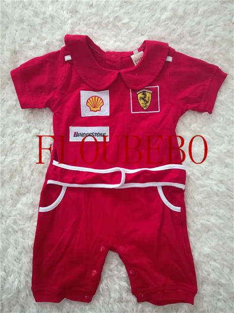Red Baby F1 Racing Jumpsuit Romper Bodysuit Coat Kids Clothes Boy